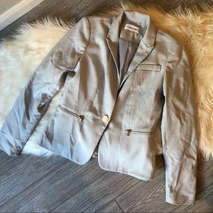 Calvin Klein Zip Accented Blazer